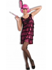 20's Pink Flapper - Adult Womens Costumes